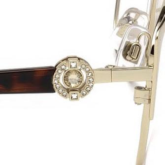 Occhiali vista Swarovski montatura con cristalli brillanti Visionottica Freddio