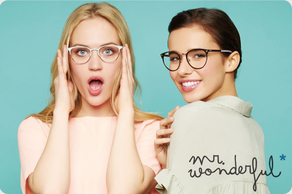 Mr Wonderful occhiali da vista colorati per ragazze. Da Visionottica Freddio