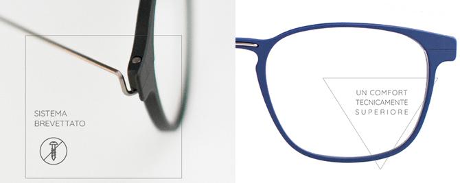 Occhiali Yugaav comfort superiore e materiali leggerissimi